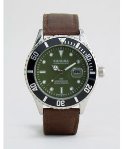 Kahuna | Коричнево-Зеленые Часы С Ремешком Из Искусственной Кожи Коричневый