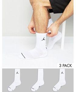 Jordan   3 Пары Белых Носков Nike Sx5545-100