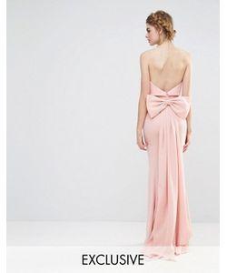 JARLO | Свадебное Платье Макси С Большим Бантом Сзади