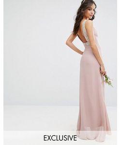 TFNC | Платье Макси С Открытой Спиной И Отделкой Wedding