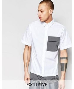 Black Eye Rags | Рубашка С Короткими Рукавами Контрастным Карманом И Кромкой На Завязке