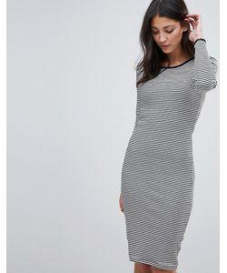 Brave Soul | Облегающее Платье Миди В Полоску