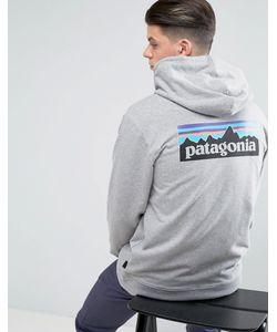 Patagonia | Меланжевый Худи На Молнии С Логотипом На Спине P-6