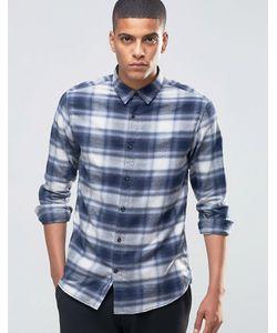 Selected Homme | Фланелевая Рубашка В Клетку Синий В Клетку