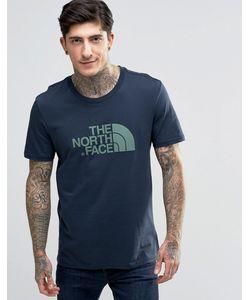 The North Face | Темно-Синяя Футболка С Логотипом Темно-Синий