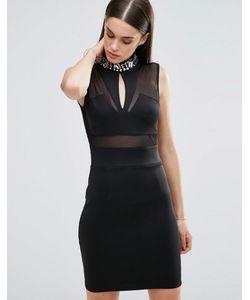 Sistaglam | Облегающее Платье Черный