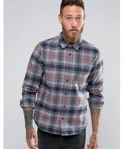 Edwin | Рубашка В Клетку Labour Battle Grey