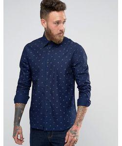 Edwin | Рубашка С Принтом Темный Индиго
