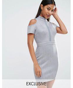 NaaNaa   Облегающее Платье Серовато-Стальной
