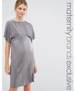 Queen Bee | Плиссированное Цельнокройное Платье Серый