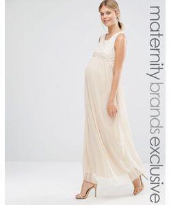 Queen Bee | Платье Макси Для Беременных Без Рукавов С Отделкой