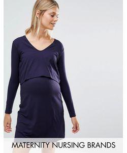 Isabella Oliver | Платье Миди Со Вставкой Для Кормления Темно-Синий