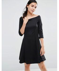 Vero Moda | Короткое Приталенное Платье Черный