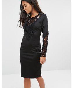 SuperTrash   Платье С Кружевной Отделкой Deux Черный