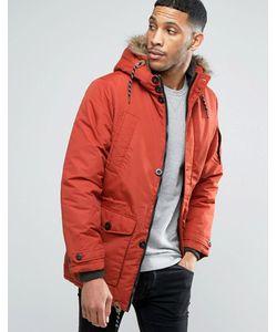 Threadbare | Утепленное Пальто С Искусственным Мехом На Капюшоне