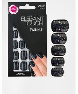 ELEGANT TOUCH   Накладные Ногти Из Гибкого Пластика Черный