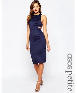 ASOS PETITE | Облегающее Платье С Вырезом И Лямками Сзади Бежевый