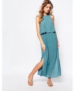 Darccy   Платье Макси С Ярусной Отделкой Розовый