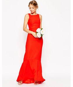 Asos | Платье Макси Асимметричной Длины Wedding Розовый