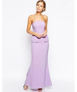 JARLO | Платье-Бандо С Баской Freya Оранжевый