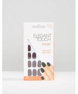 ELEGANT TOUCH | Короткие Накладные Ногти Ограниченной Серии Синий