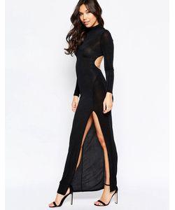 Twin Sister | Платье Макси С Длинными Рукавами И Вырезом Сзади