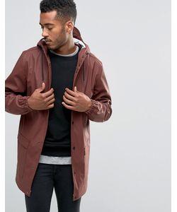 D-Struct   Водонепроницаемая Куртка Средней Длины С Капюшоном Красный