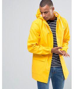D-Struct   Водонепроницаемая Куртка Средней Длины С Капюшоном Желтый