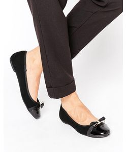 Head Over Heels | By Dune Hadisia Black Patent Flat Shoes