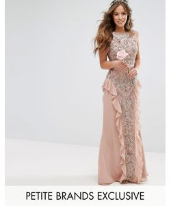 Maya Petite | Embellished Maxi Dress With Ruffle Skirt Detail