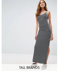 Vero Moda Tall | Трикотажное Платье Макси В Полоску