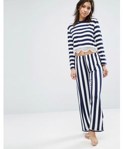 Chelsea Peers | Lace Trim Long Pyjama Set