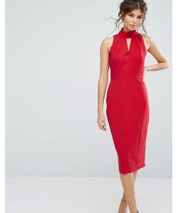 Closet London | Платье Миди С Вырезом Капелькой Closet