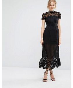 Foxiedox   Платье Миди С Ажурным Кружевом Elodie