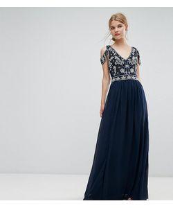 Frock and Frill | Декорированное Платье Макси С Вырезами На Плечах