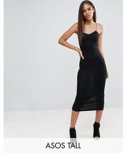 ASOS TALL | Облегающее Платье Миди На Бретельках