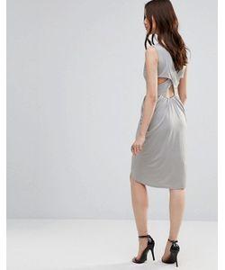 Wal G   Платье С Драпировкой И Перекрестными Планками Сзади