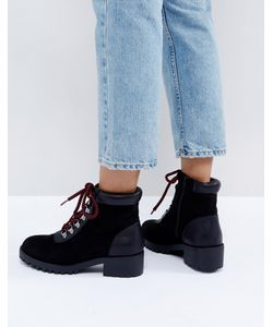 New Look | Контрастные Походные Ботинки На Шнуровке
