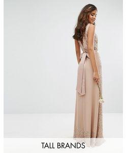 Maya Tall | Декорированное Платье Макси С Бантом Сзади