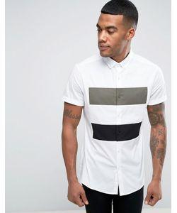 Asos | Рубашка Скинни Со Вставкой
