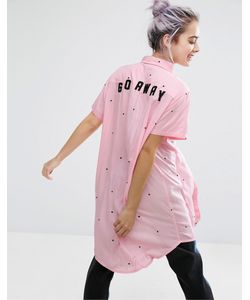 Lazy Oaf | Длинная Рубашка Go Away