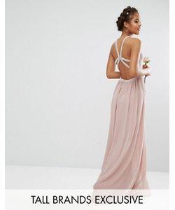 TFNC Tall | Платье Макси С Камнями На Бретельках Wedding