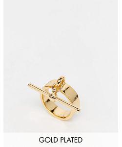 Me & Zena | Кольцо С Т-Образным Дизайном Золотой