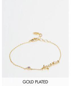 Astrid & Miyu | Позолоченный Браслет Со Знаком Зодиака Aquarius Золотой