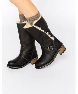 Cat Footwear | Ботинки В Байкерском Стиле Cat Anna Черный