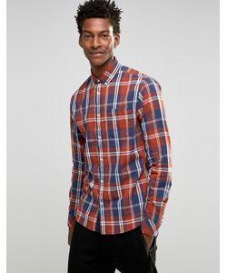 !Solid | Рубашка В Клетку С Воротником На Пуговицах Красный