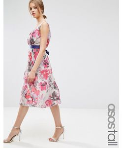 ASOS TALL | Короткое Приталенное Платье С Цветочным Принтом И Плиссировкой