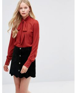Alter | Блузка С Завязкой У Шеи Рыжий