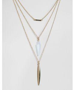 Cara Jewellery | Ожерелье В 3 Ряда Cara Ny Золотой