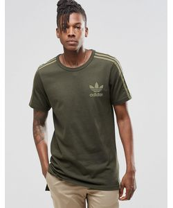 adidas Originals | Удлиненная Футболка Adicolour Fashion B10712 Зеленый